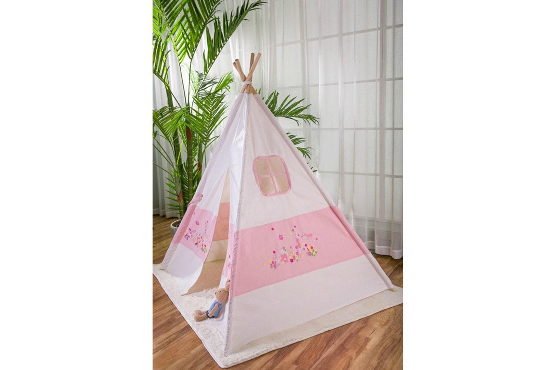 Cherokee Teepee | White & Pink