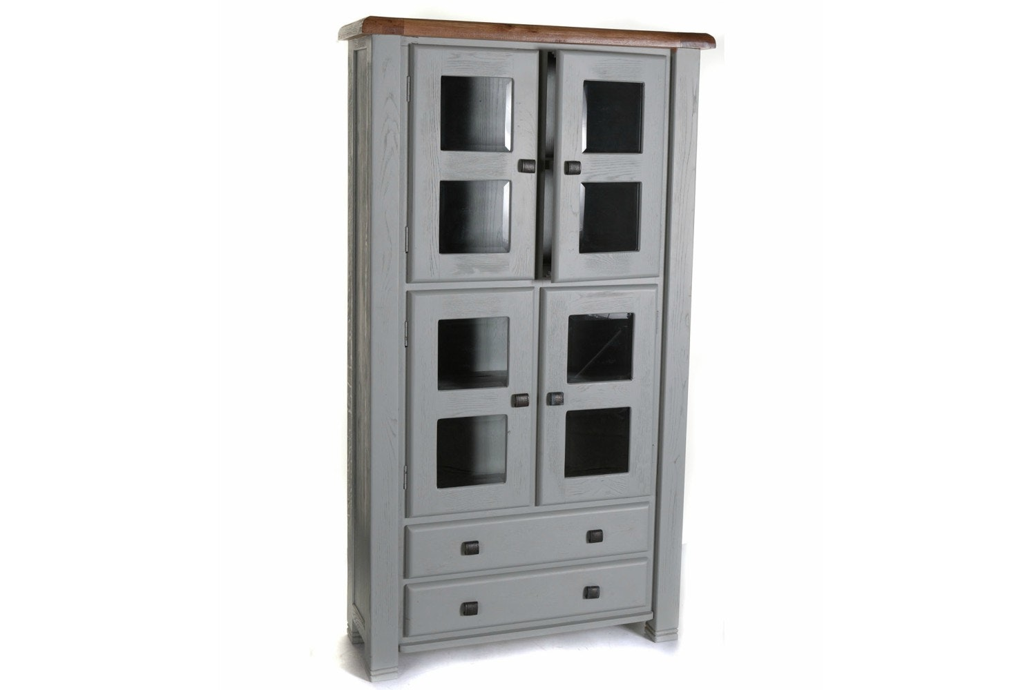 Queenstown Display Cabinet | Painted Grey
