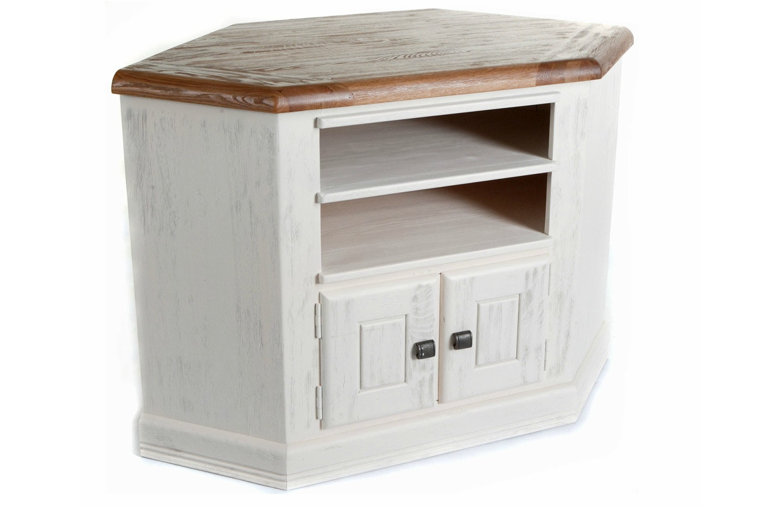 Queenstown Corner TV Cabinet | Painted White