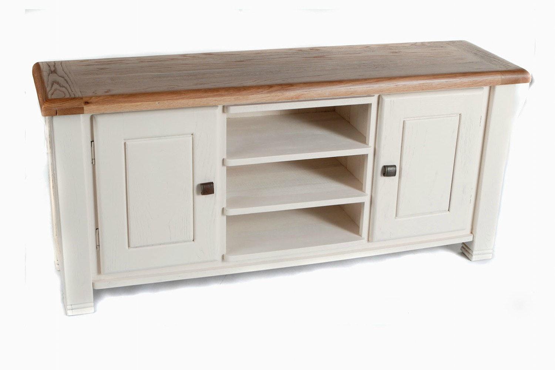 Queenstown TV Cabinet | Medium | Painted White
