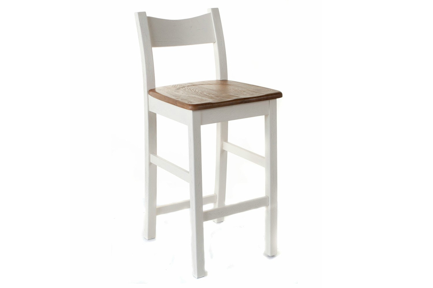 Queenstow Bar Stool | Painted White