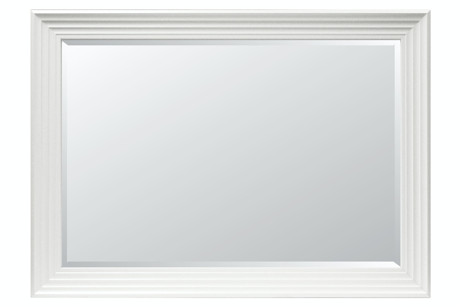 Bevelled Mirror White