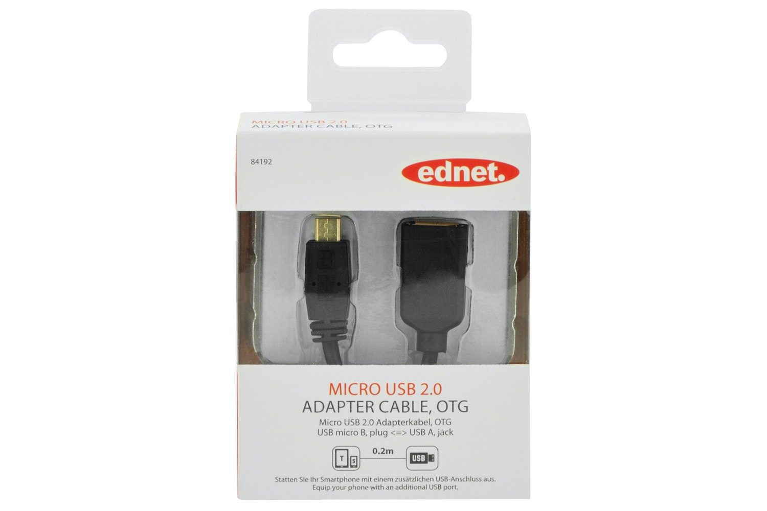 Ednet USB 2.0 OTG Adapter | 0.2M