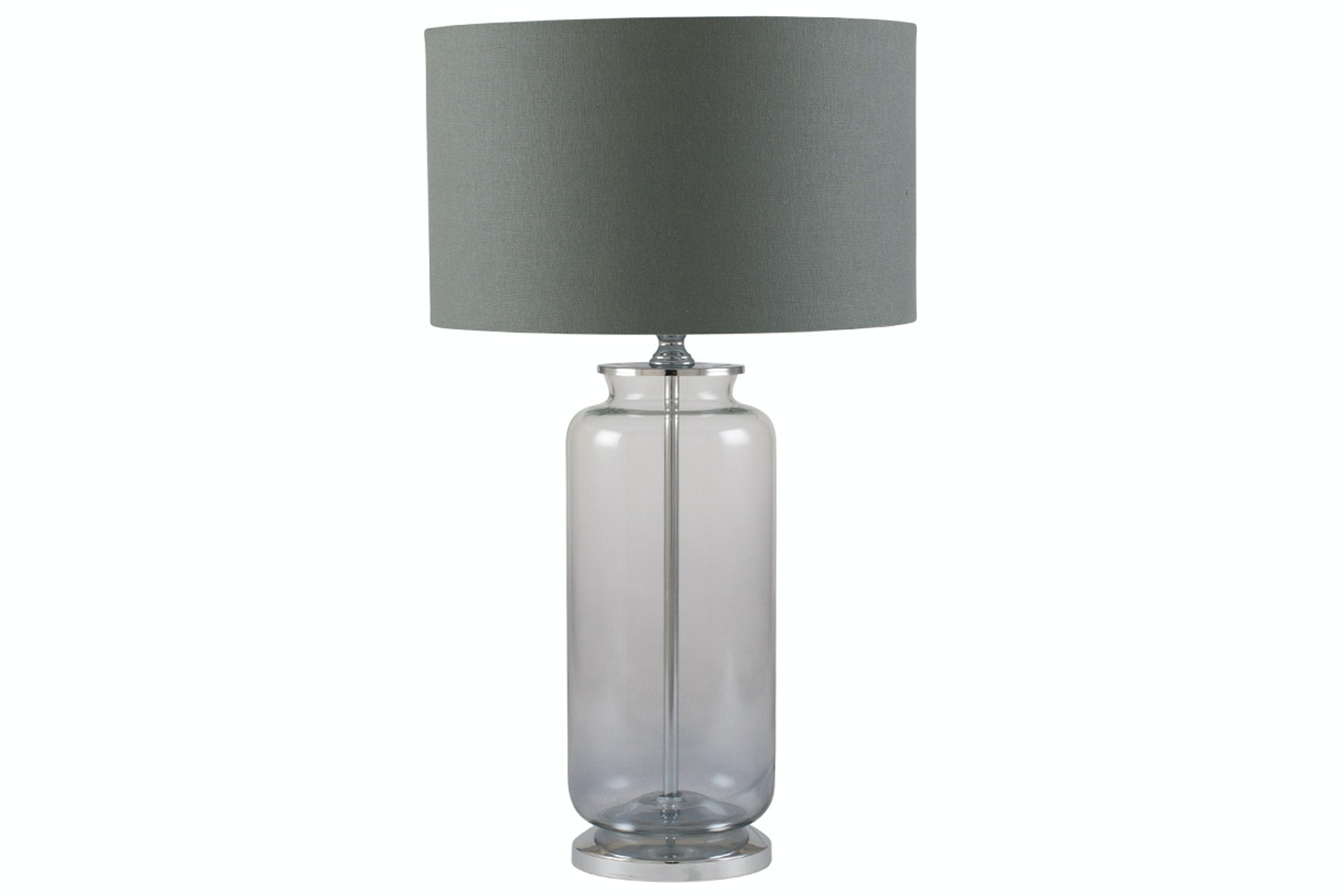 Grey Ombre Glass Table Lamp