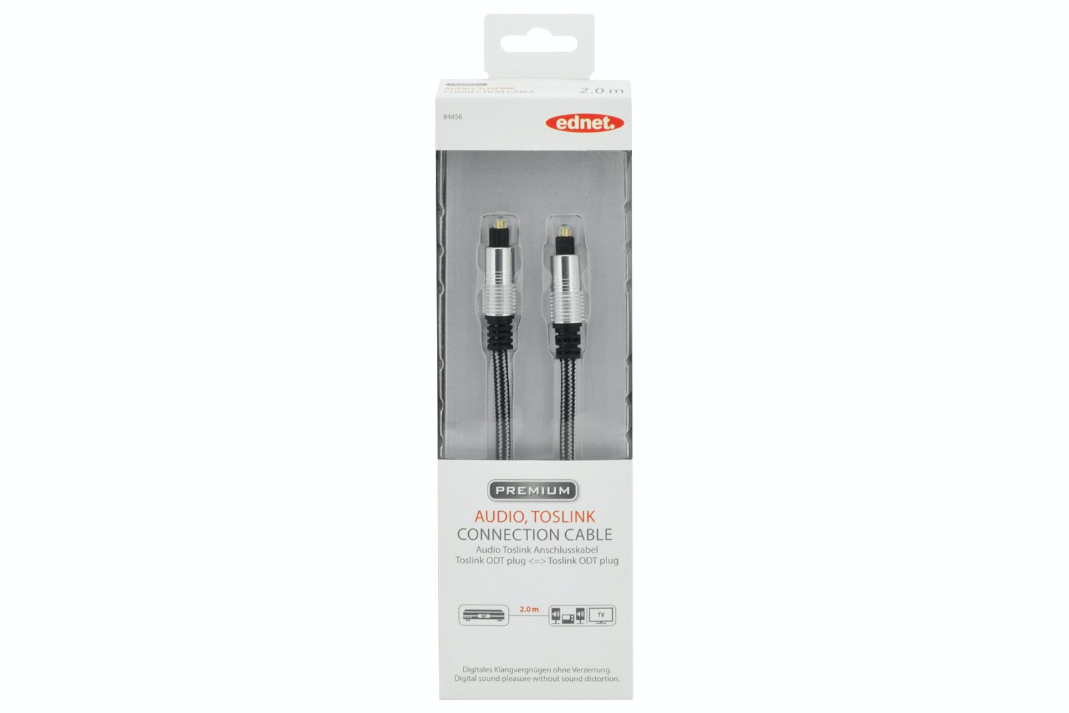 Ednet Audio TOSLINK Cable   2m