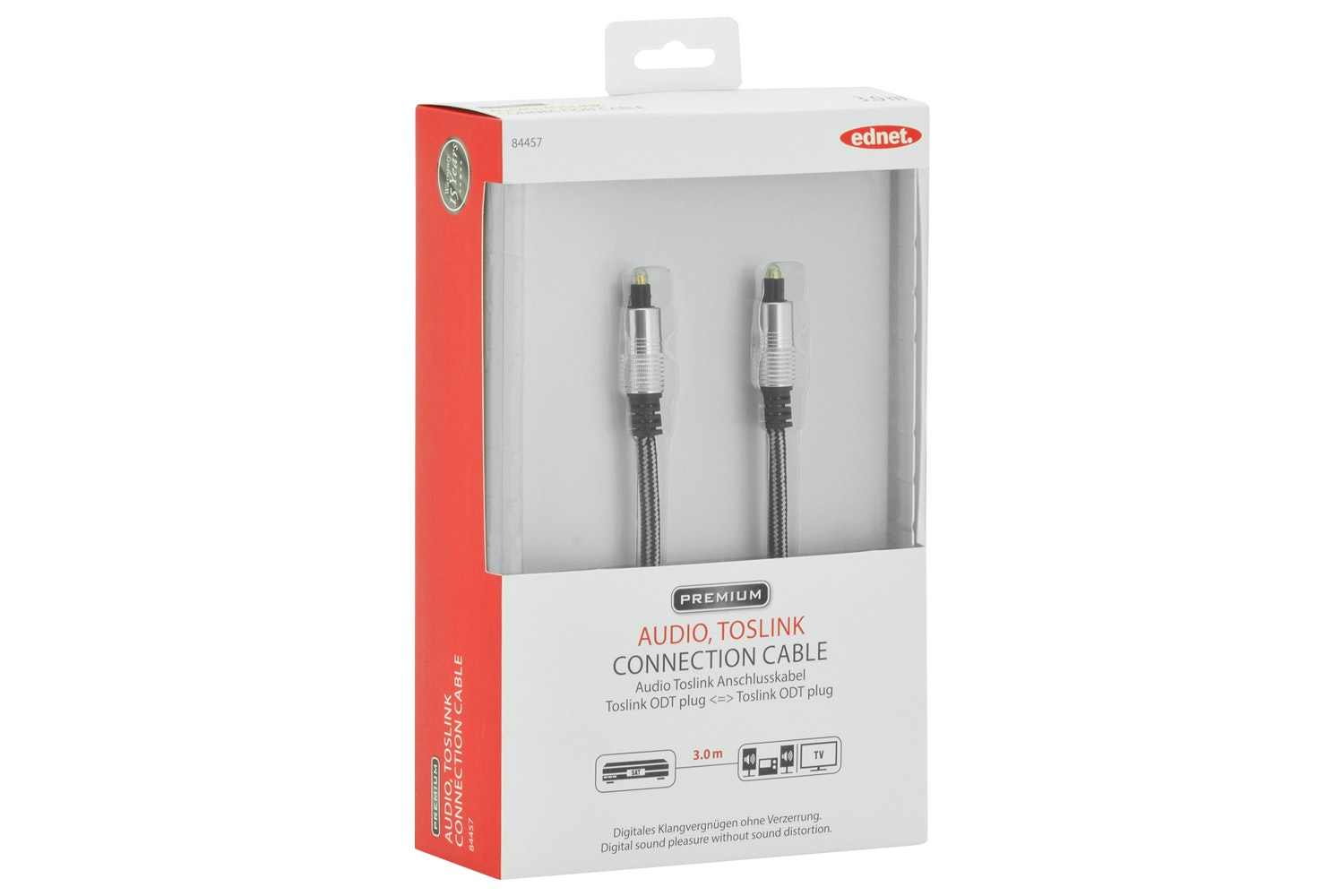 Ednet Audio TOSLINK Cable | 3m
