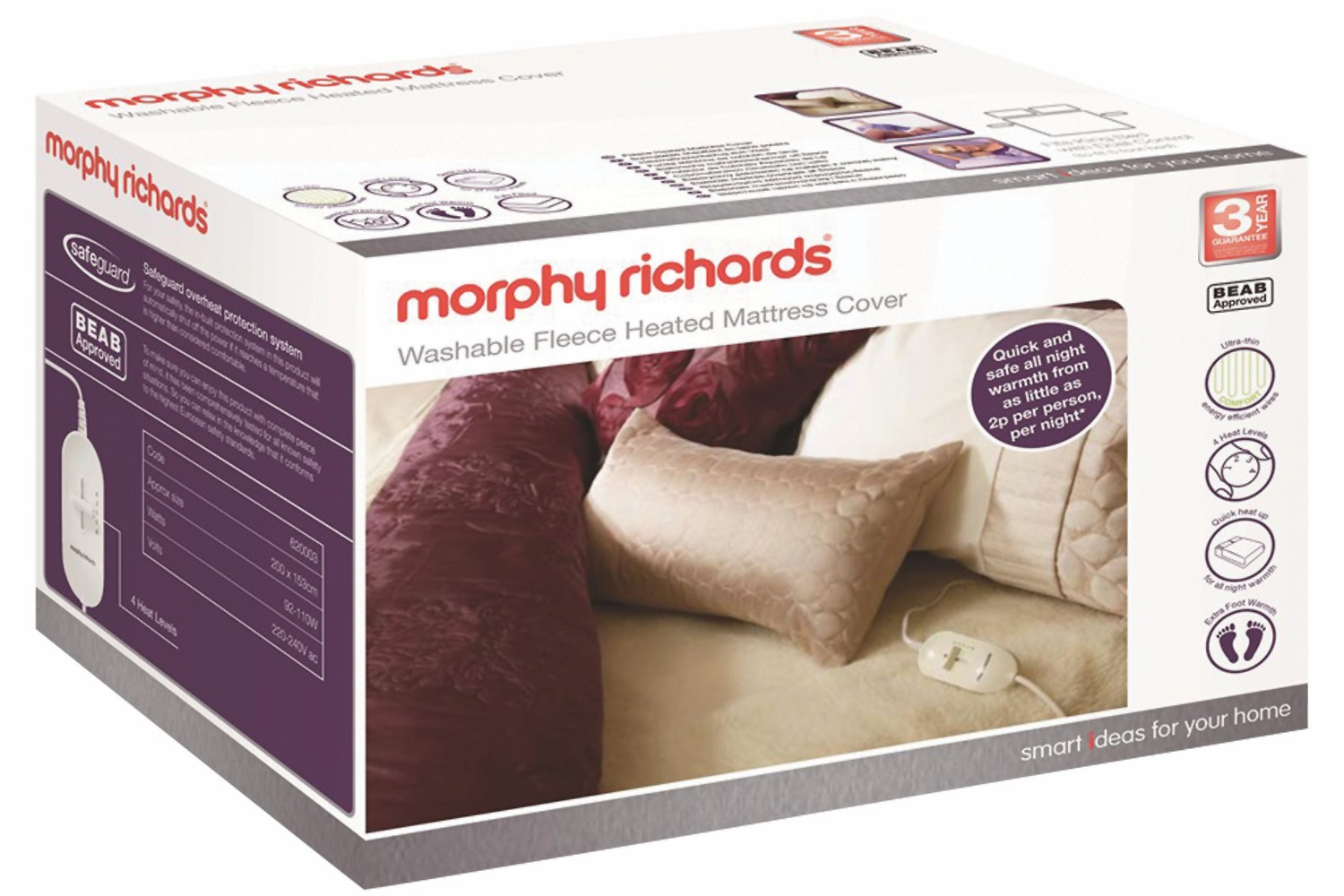Morphy Richards King Dual Mattress Electric Blanket