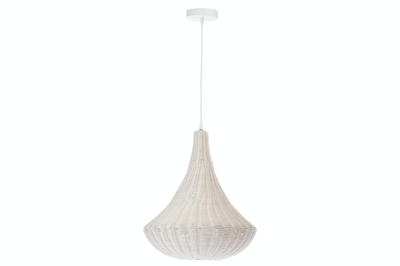 Rattan Ceiling Light | White