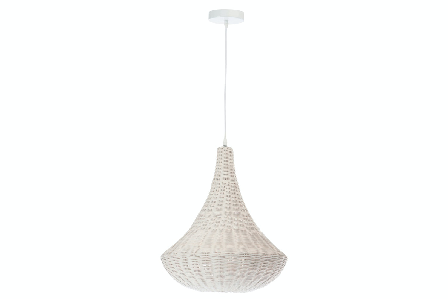 Rattan Ceiling Light | White