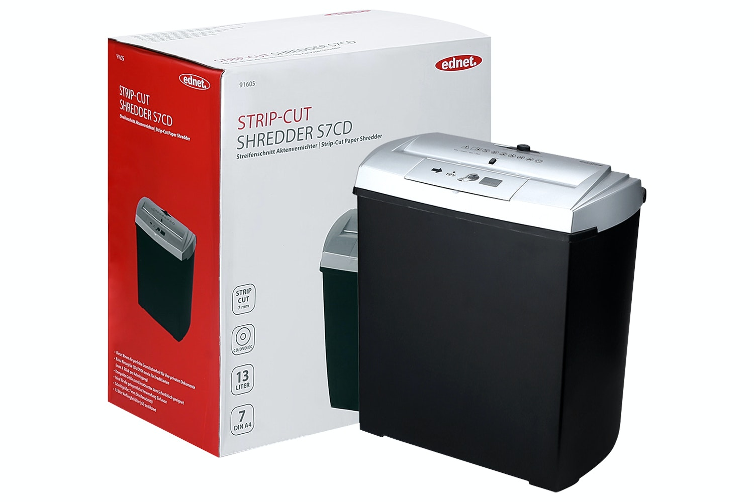 Ednet 7-Sheet Shredder | S7CD