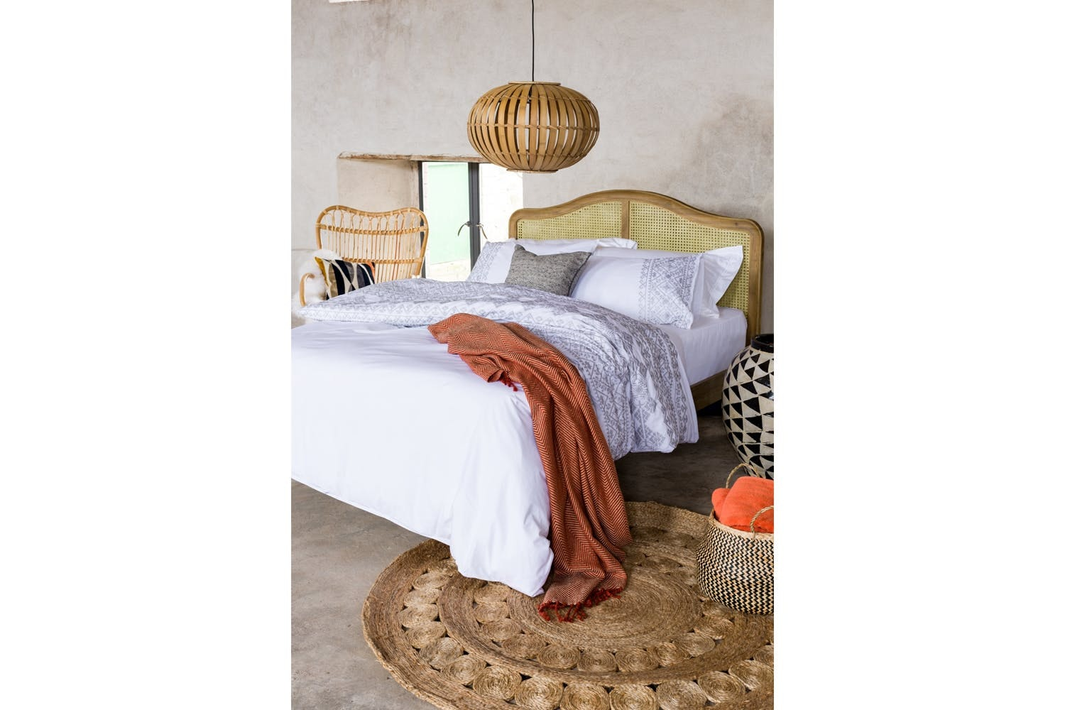 Aztec White Duvet Cover Set | King