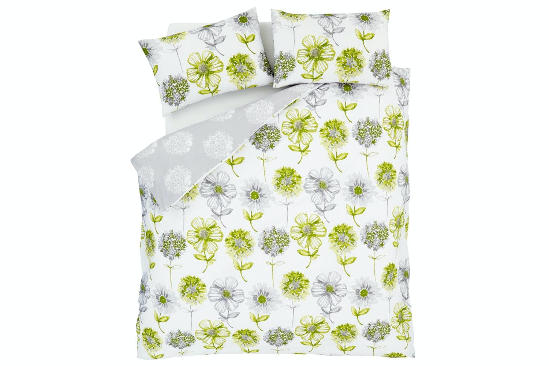 Banbury Floral Green Quiltset | Double