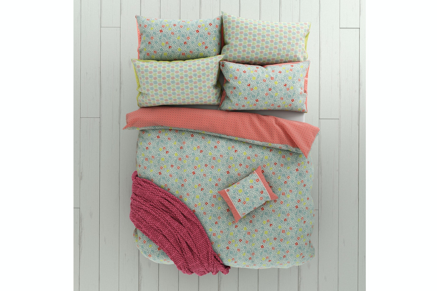 Belle Duvet Cover Sets | Double | Duck Egg