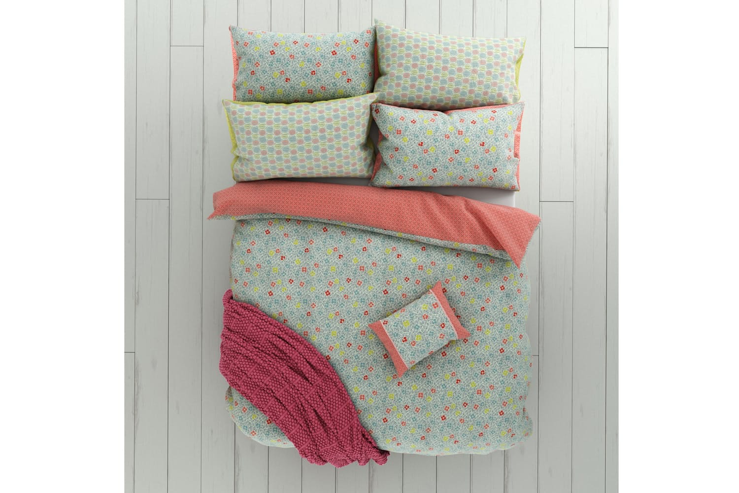 Belle Housewife Pillowcase Pair | Duck Egg