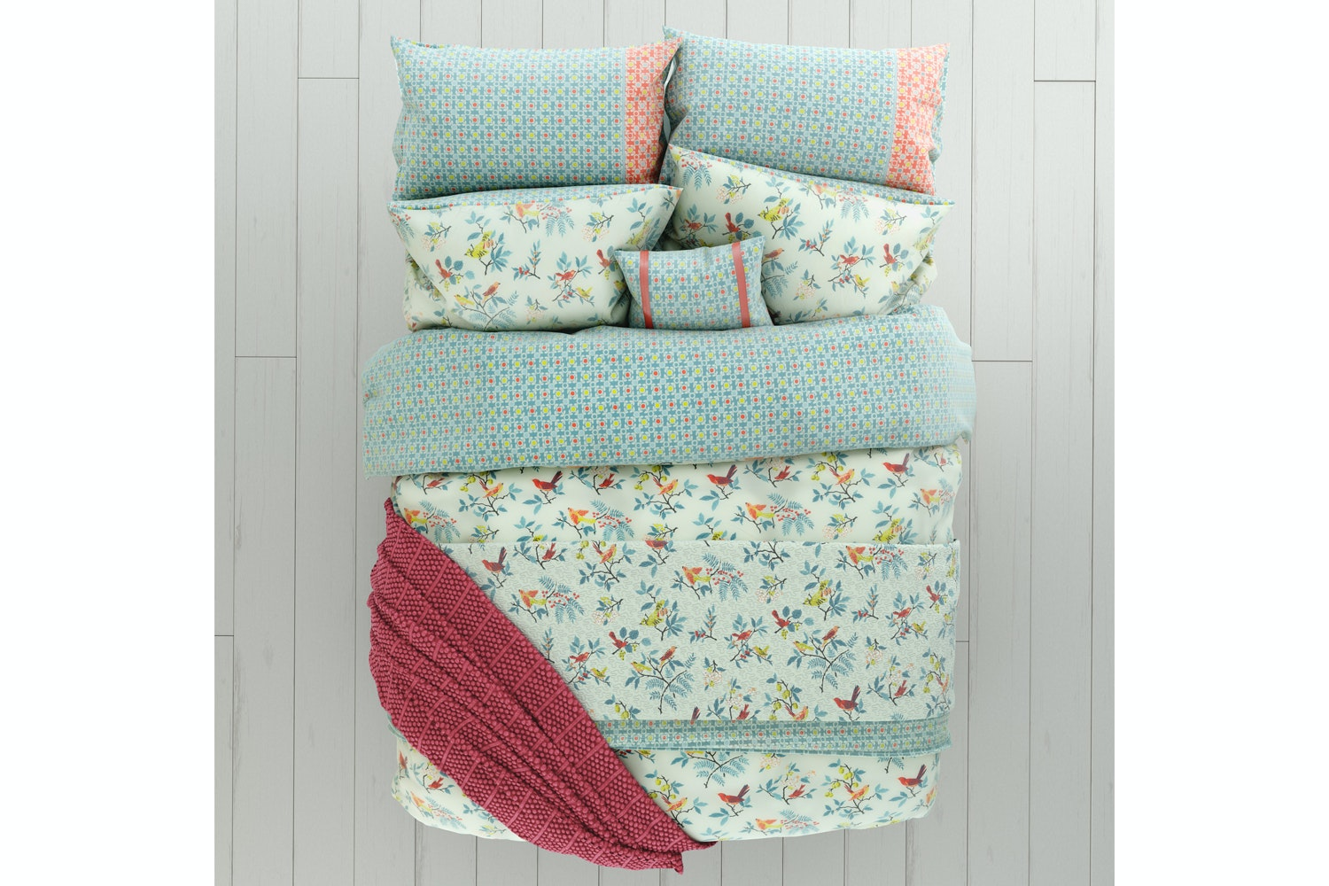 Tilly Duvet Cover set | Superking | Duckegg