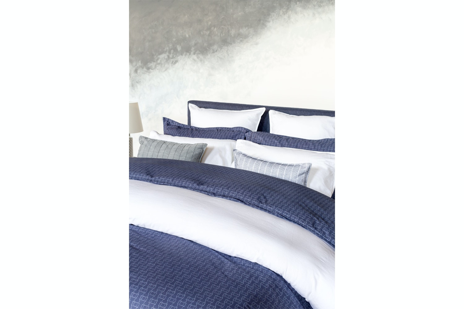 Murmur Hama Duvet Cover | Super King | Indigo