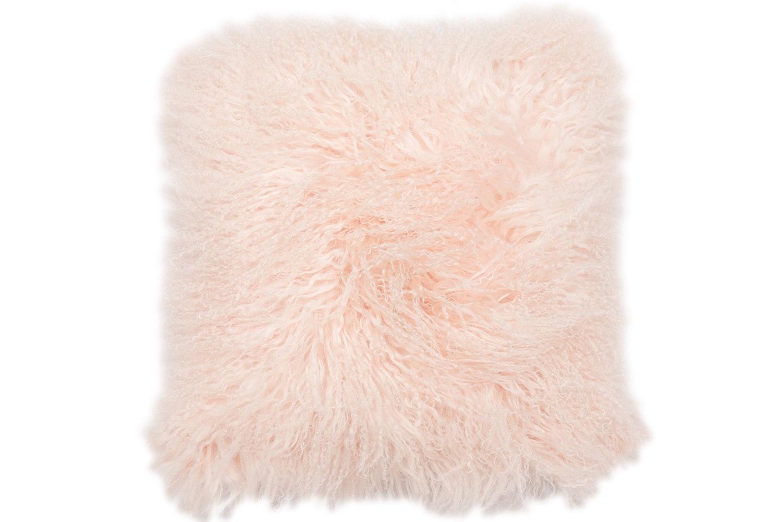 Real Mongolian Pink Cushion