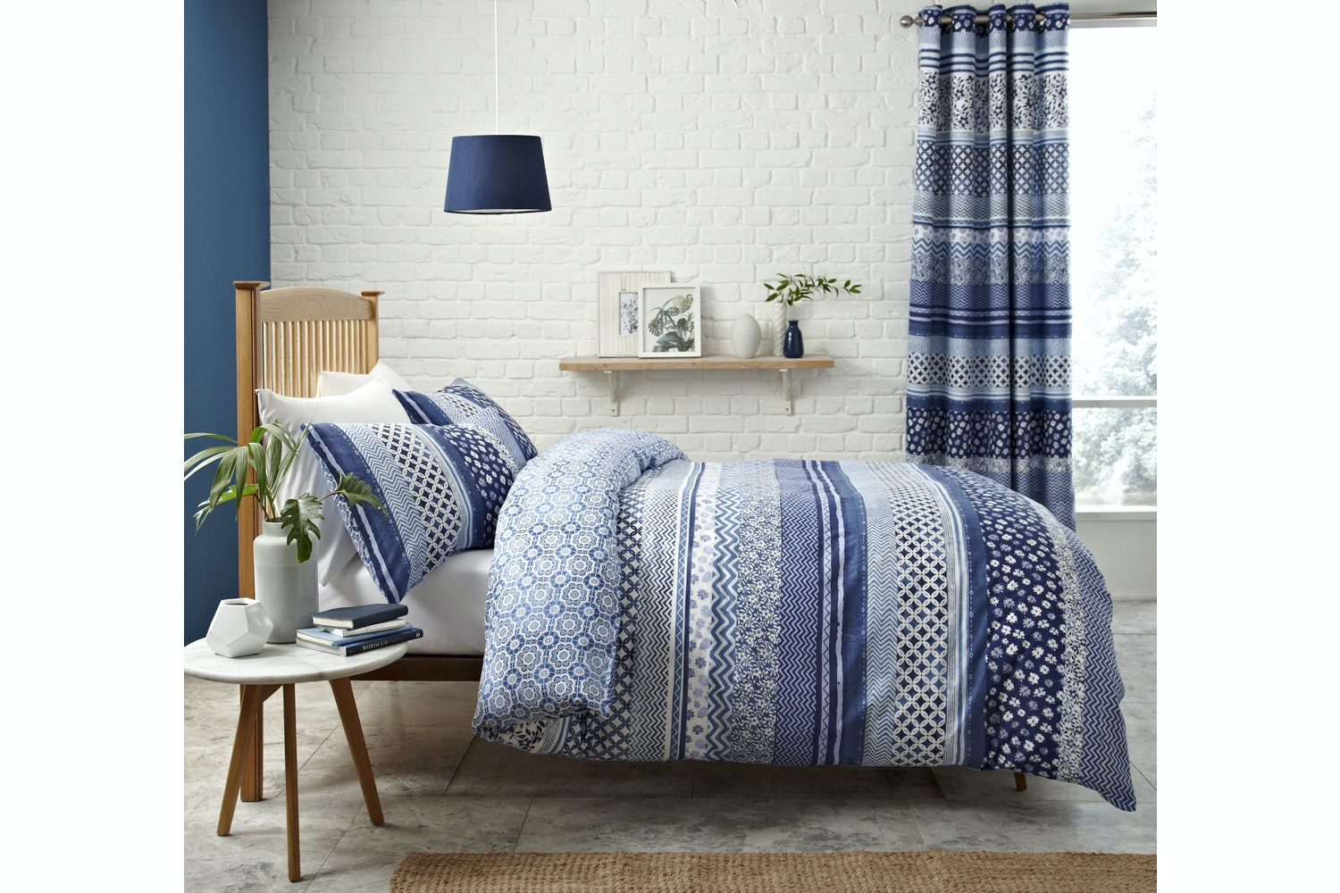 Santorini Blue Quiltset | Single