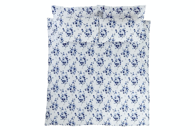 Sprig Cotton Blue Duvet Cover Set | Double