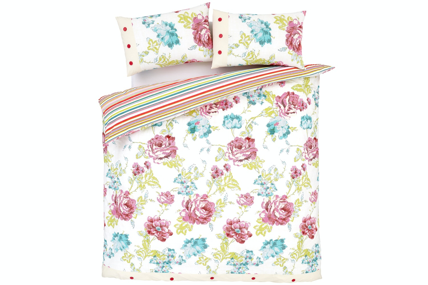 Floral Stitch Multi Quiltset | Double