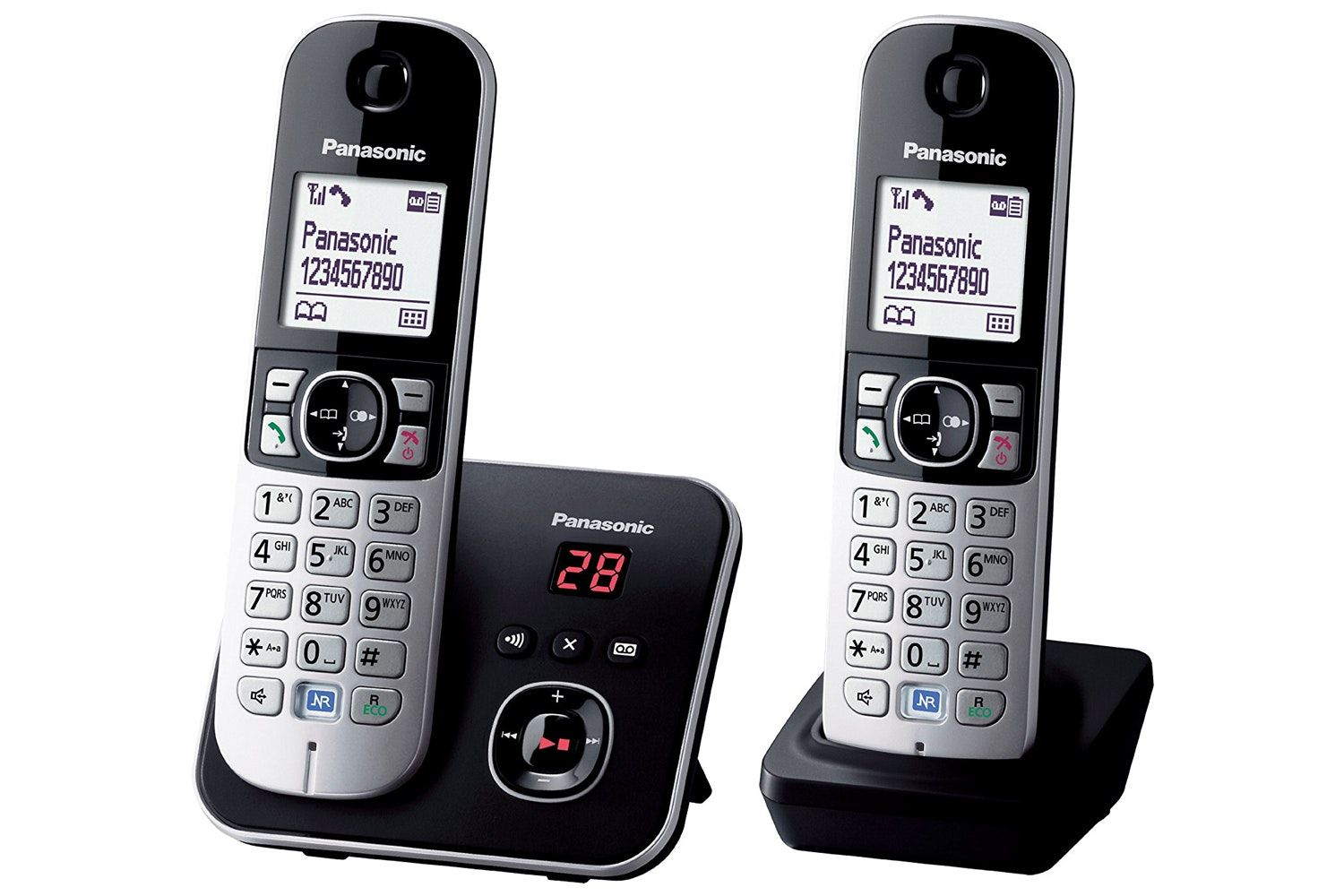 Panasonic 6821 DECT Cordless Phone with TAM | Twin Pack