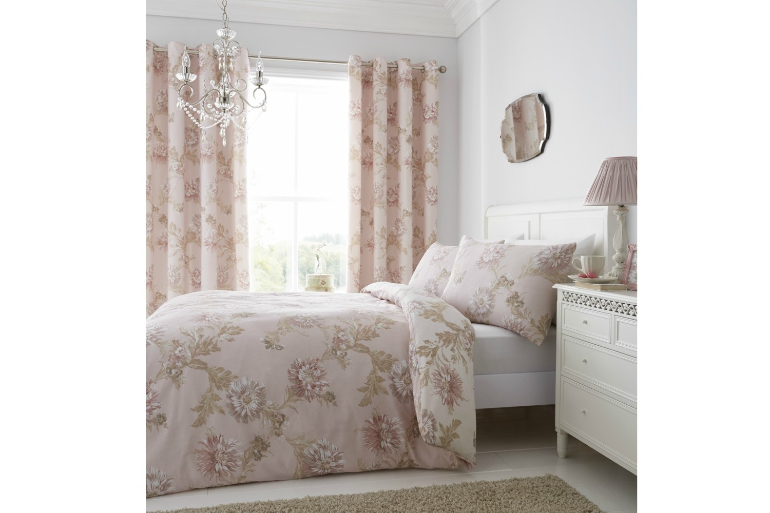 Chrysanthemum Blush Quiltset | King