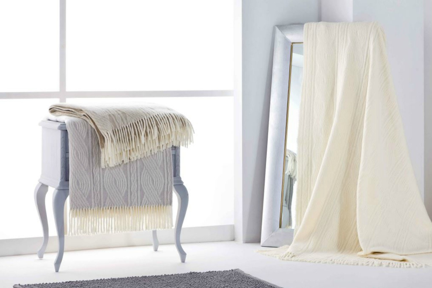 The Linen Room Cable Knit Throw
