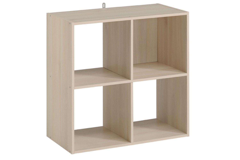 Kubikub 4 Cube Square Storage | Acacia