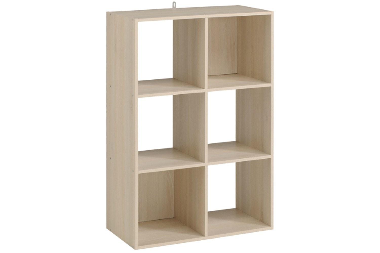 Kubikub 6 Cube Column Storage | Acacia
