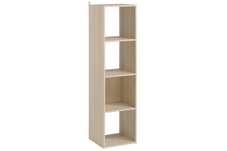 Kubikub 4 Cube Column Storage | Acacia