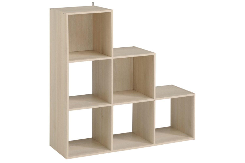 Kubikub 6 Cube Tier Storage | Acacia