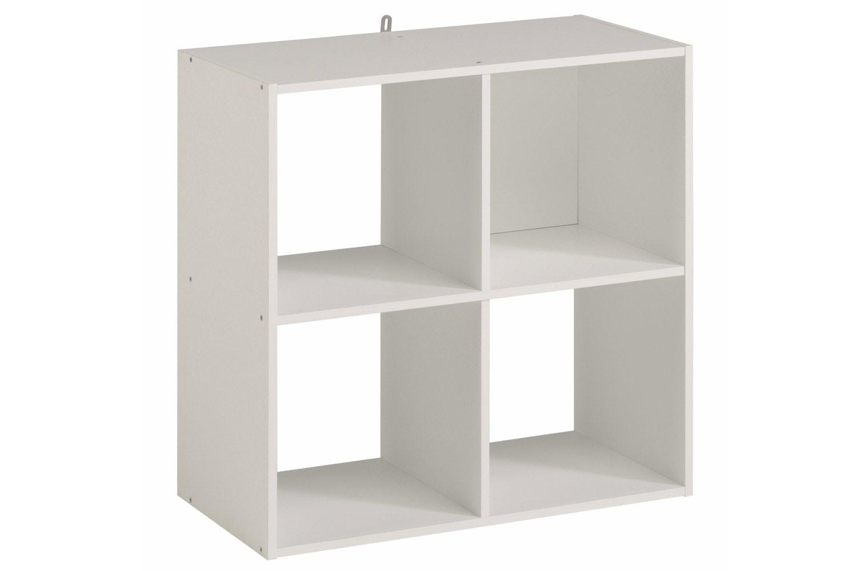 Attirant Kubikub 4 Cube Square Storage   White