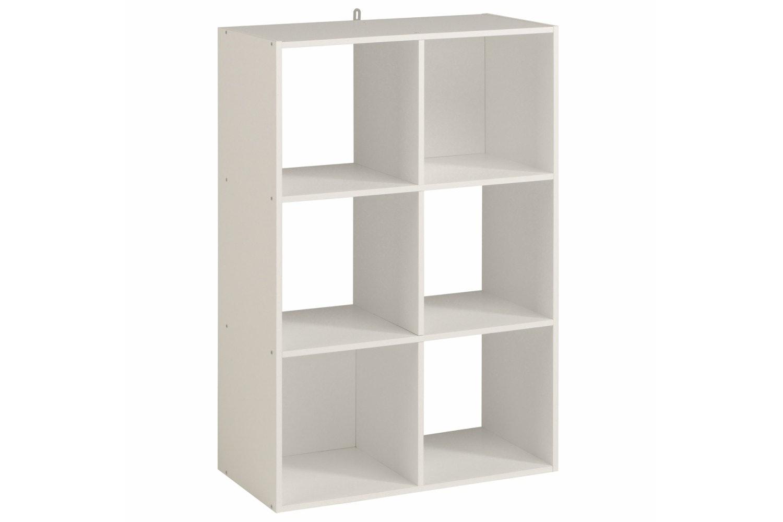 Kubikub 6 Cube Column Storage | White