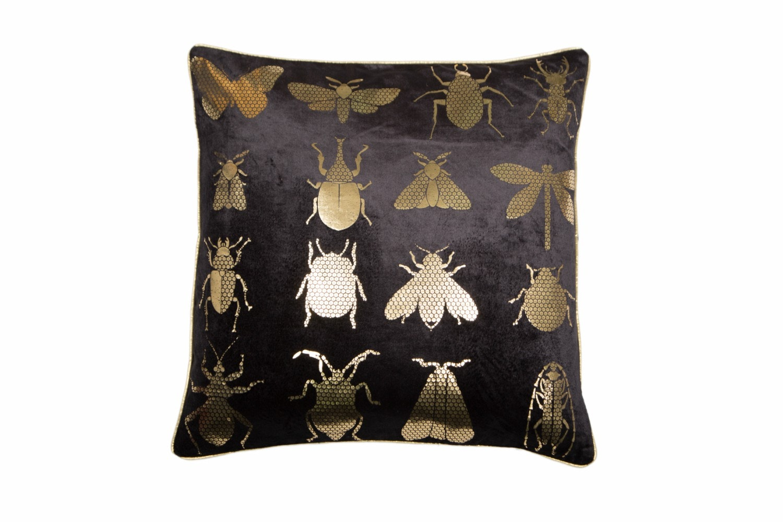 Bug Foil  Cushion on Black