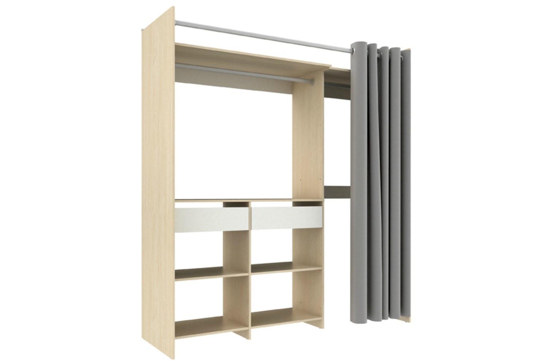 Flexi Robe Adjustable Open Storage | White&Maple