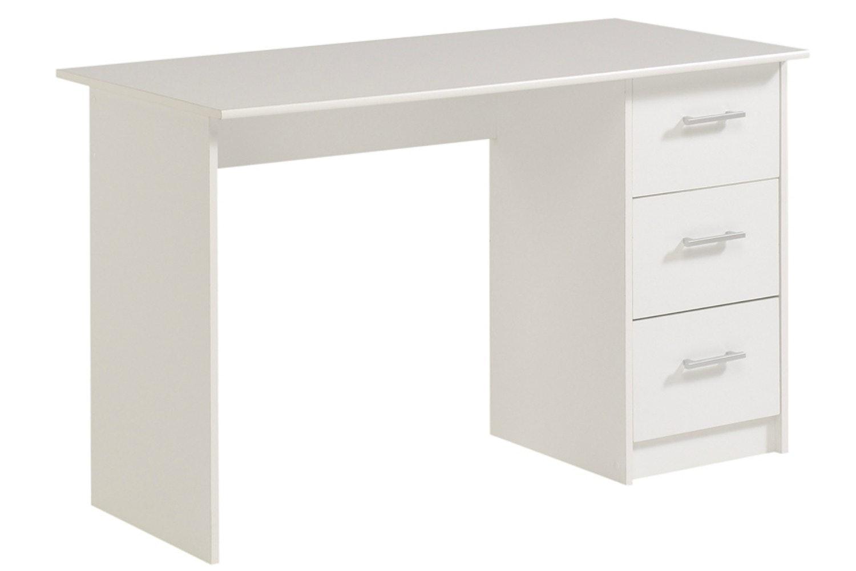 Infinity Study Desk 3 Drawer | White