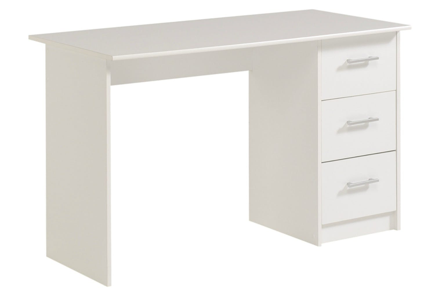 infinity study desk 3 drawer white ireland. Black Bedroom Furniture Sets. Home Design Ideas