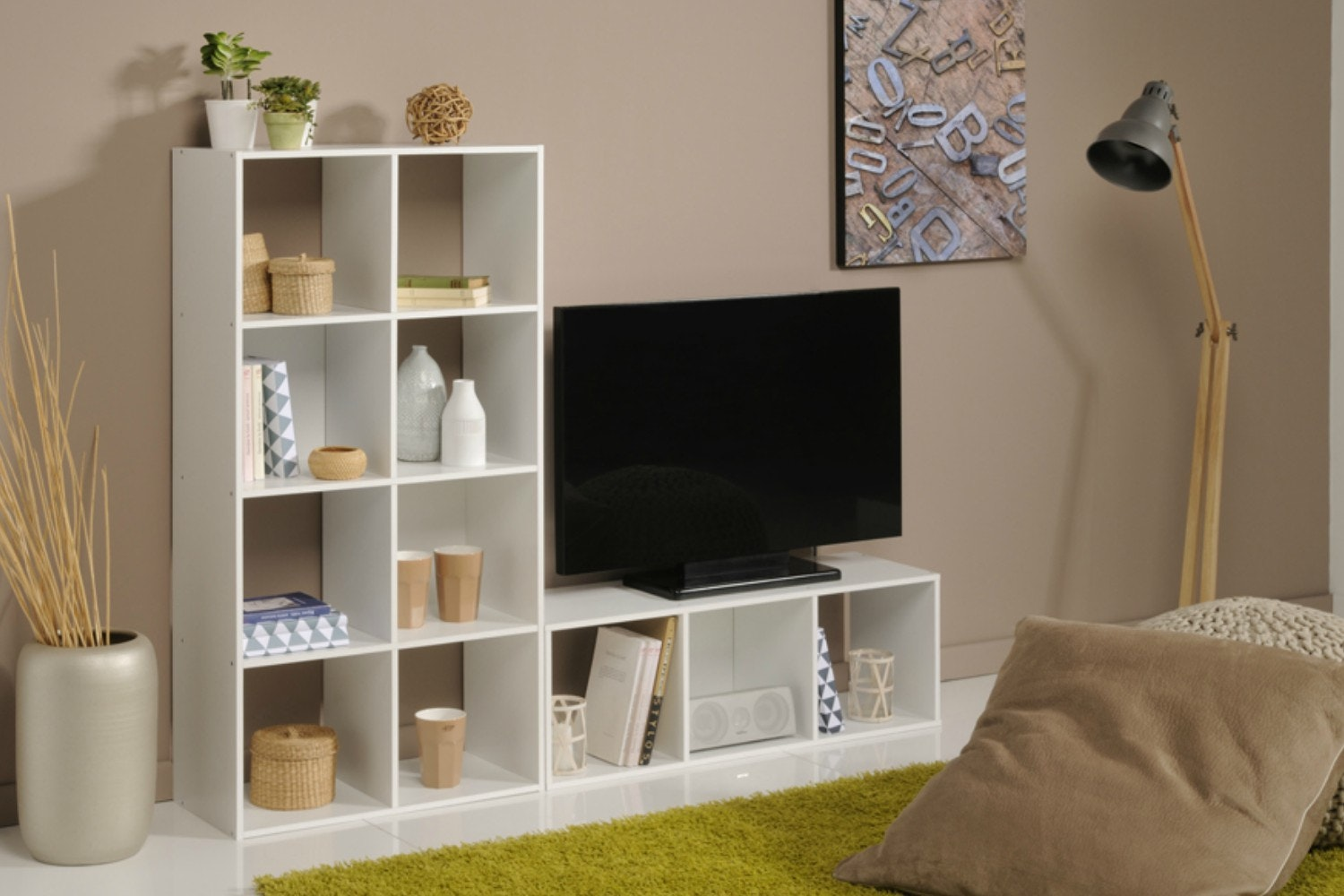 Kubikub 8 Cube Column Storage | White