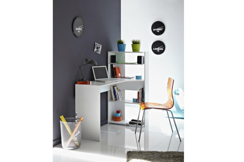 Mister Study Desk L-Shape | White