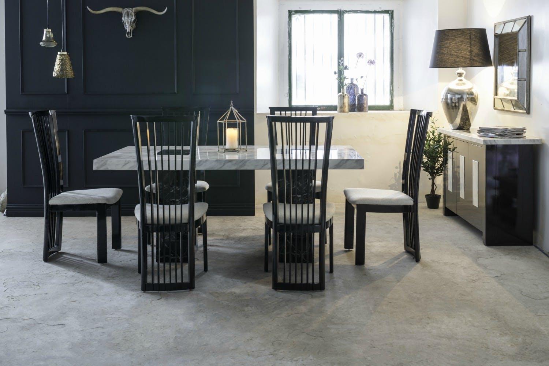 Strasbourg dining table black white