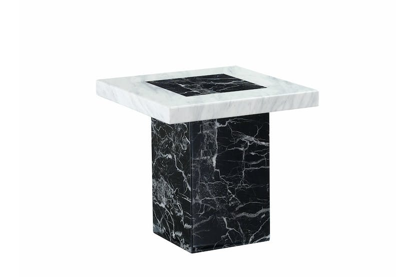 Strasbourg Lamp table | Marble | Black & White