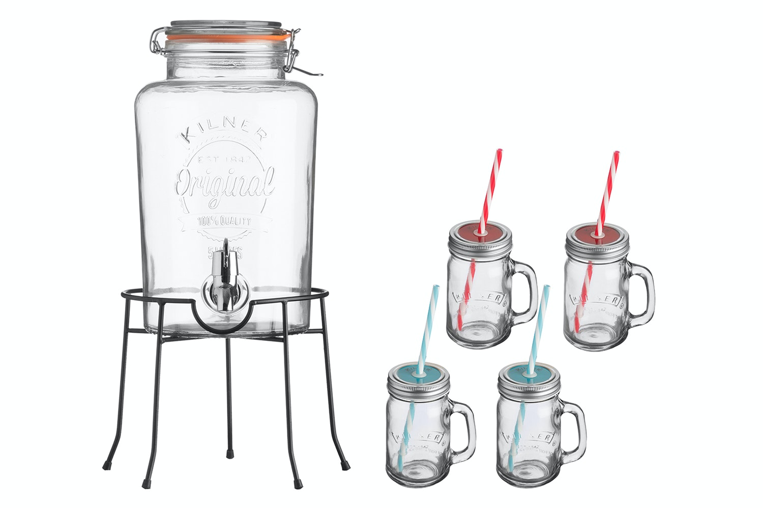 Kilner Drinks Dispenser Gift Set |14 Piece