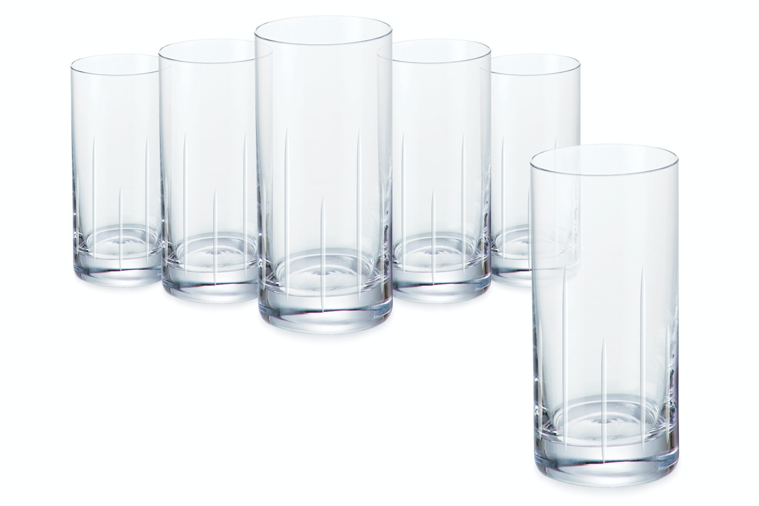 Tranquility Water Glass Hat Box|Set of 6
