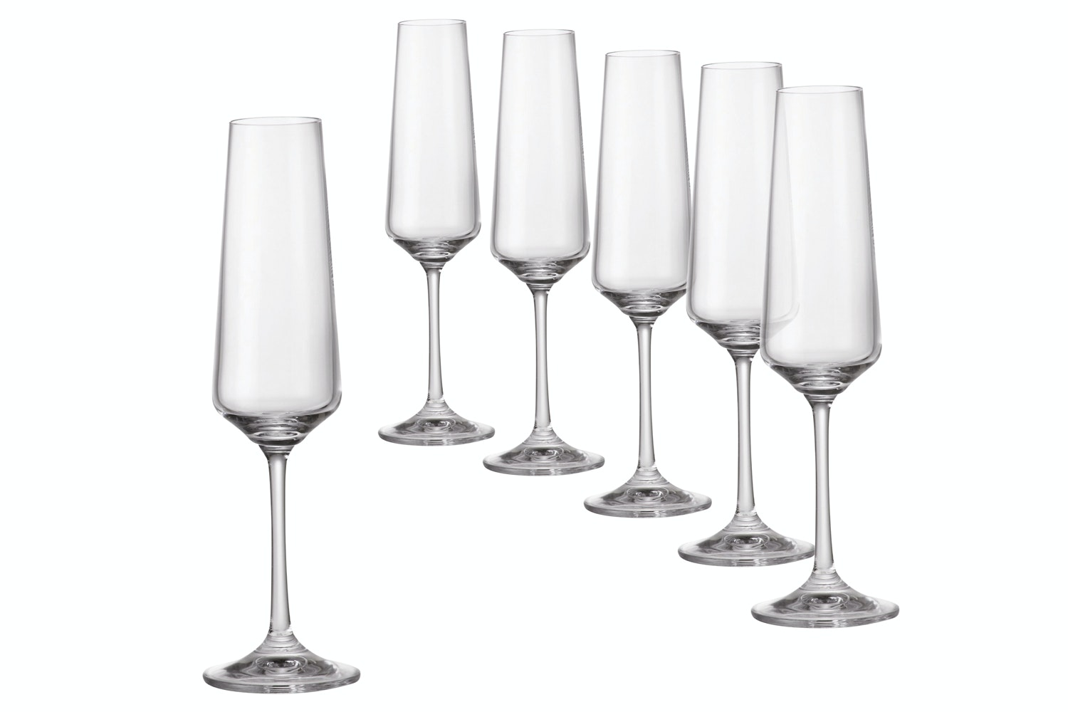 Sapphire Champagne Flutes| Set of 6