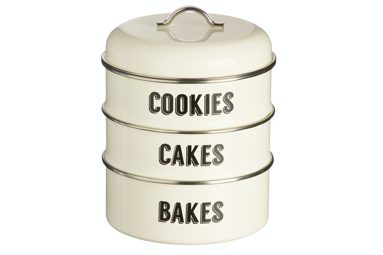Type Retro Cream Stacking Storage