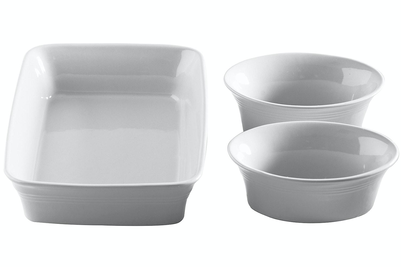 Kitchen Cream Ovenware Set|3 Piece Set