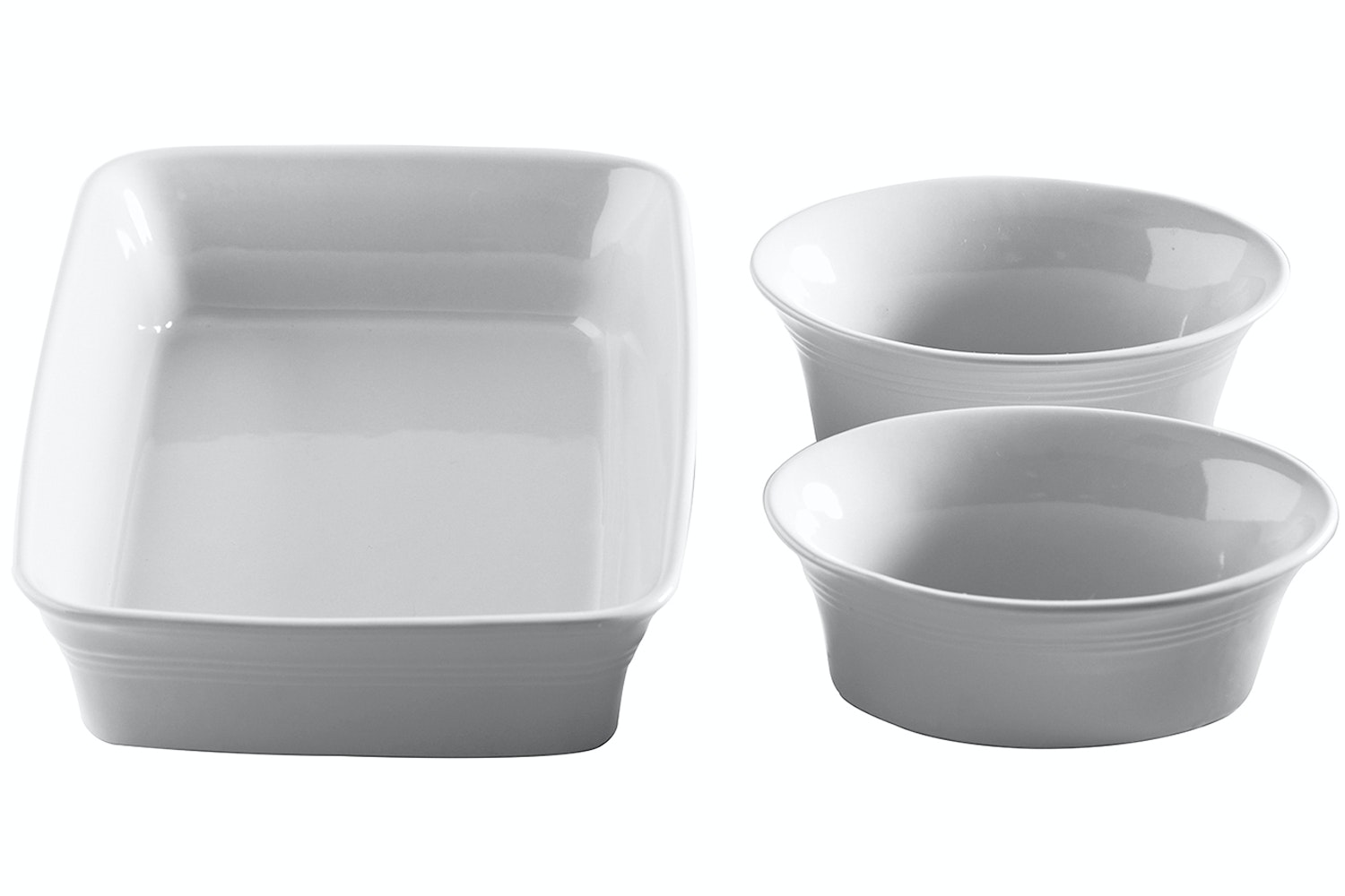 Kitchen Cream Ovenware Set|3 Piece Set