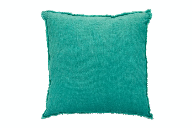 Linen Cushion Aqua