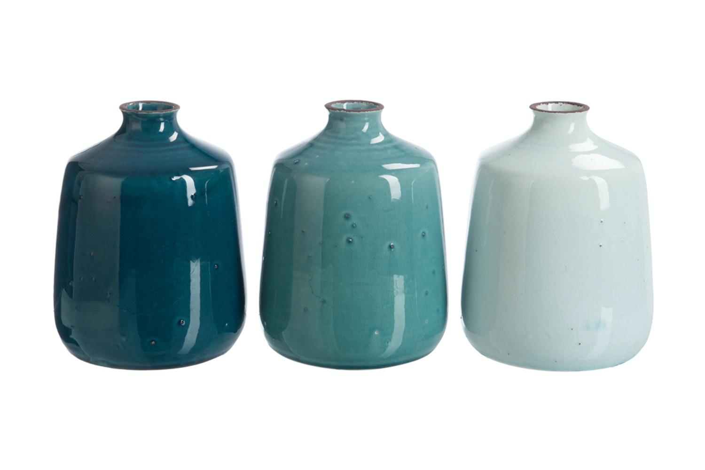 Blue Ceramic Vase | Large