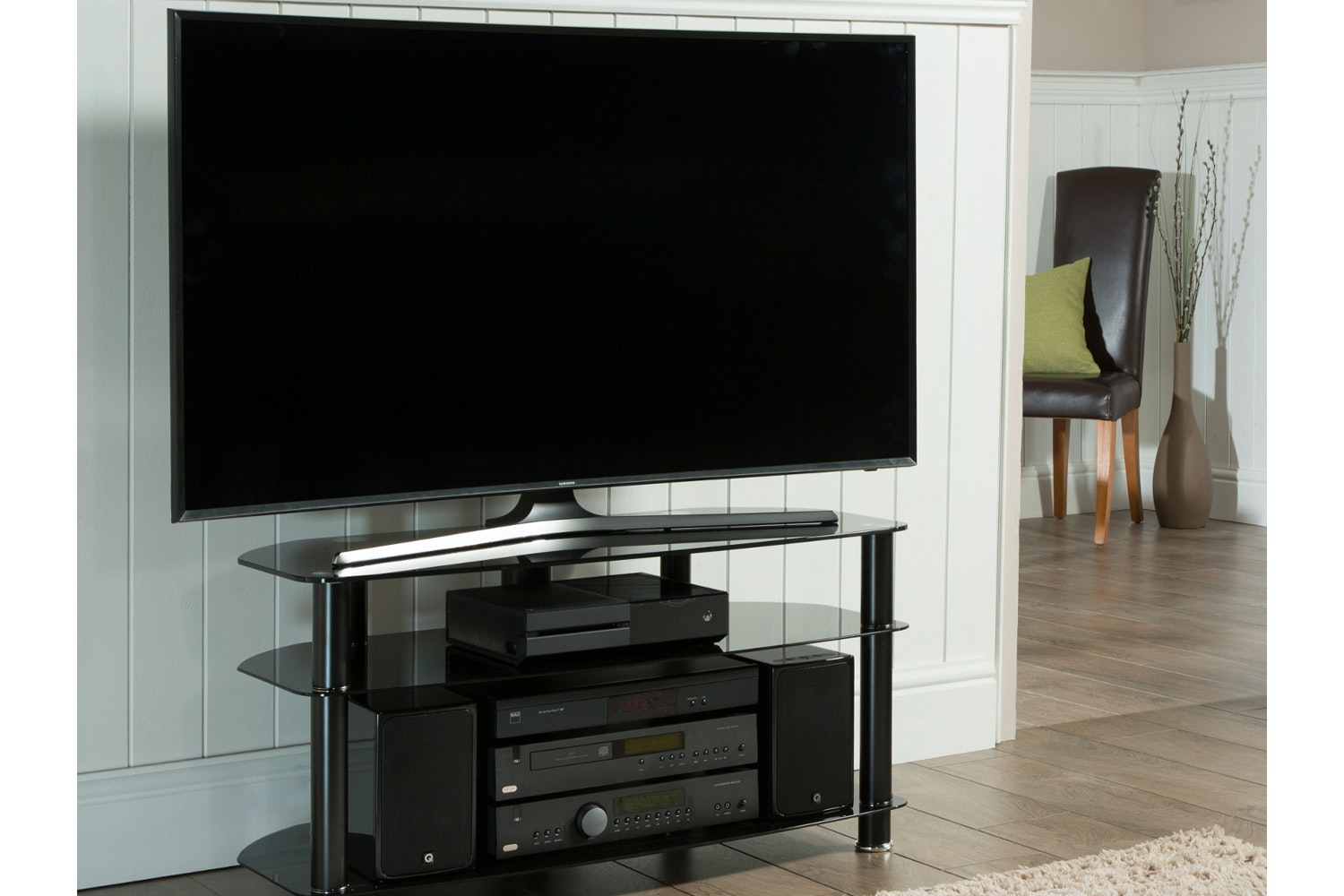 Alphason Glass TV Stand | Up to 42""
